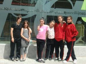 Castellar del Vallès 10/6/12: Mònica Lozano, Marta Olivares (Acompanyant), Paula Icart, Mireia Berengueras, Maria Casellas i Laura Vilalta